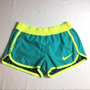 NIke Shorts Green Neon Yellow Reversible Running S